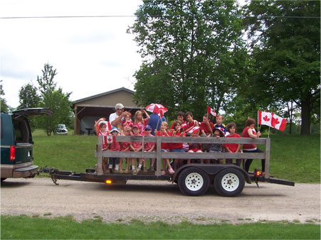 Canada Day Parade Float