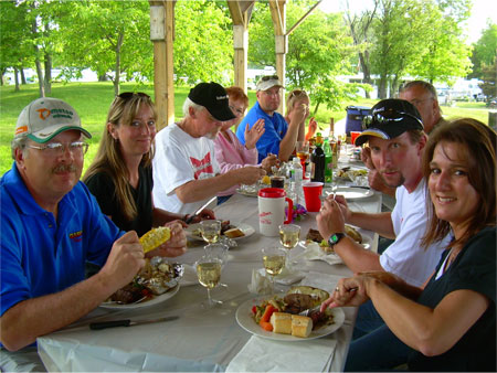 Gascho Golf Tournament 2009 - Dinner in Picnic Pavilion