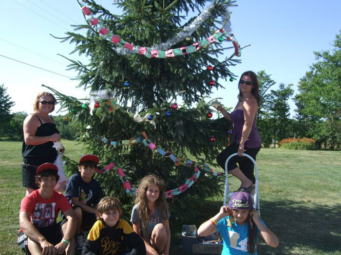 Christmas in July - Tree Decorating