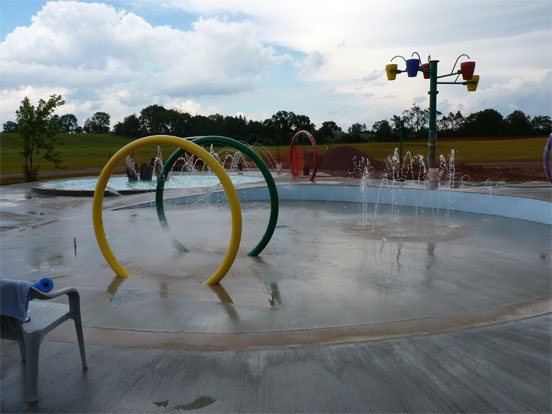 Splash Pad - With buckets in distance