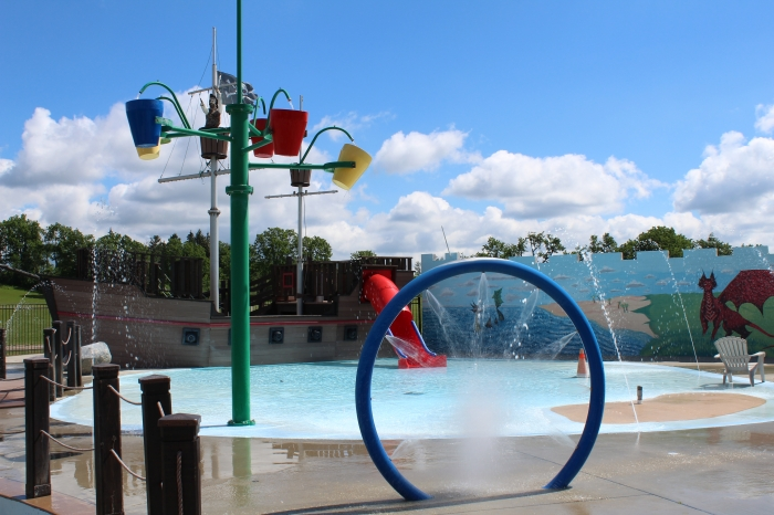 Splash Pad and the buckets