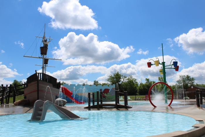 Wading Pool and Pirate Ship and Splash Pad too!