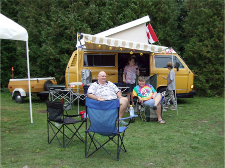 Group Camping - Volkswagen Westfalia Campers