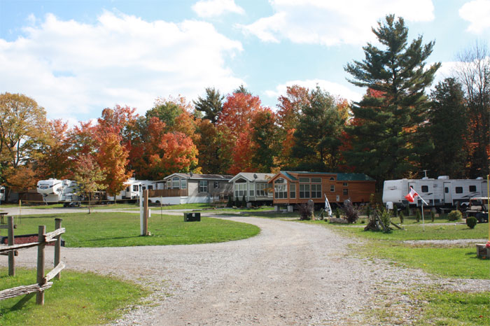 Seasonal campsites in the Fall