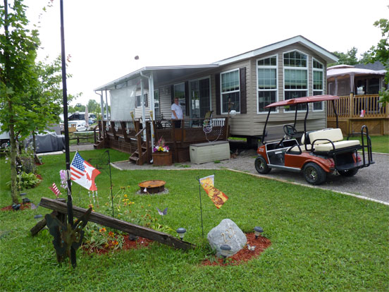 Seasonal trailer and golf cart