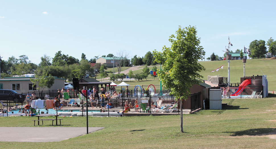 Pool, Splash Pad and Pirate Ship