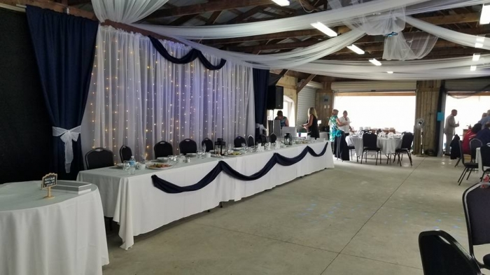 Pavilion Wedding set up