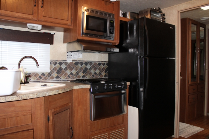 Forest River Salem Kitchen with Stove Full Size Fridge
