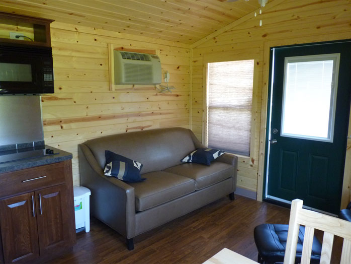 rental unit c5 large cottager cabana ontario canada campground. Black Bedroom Furniture Sets. Home Design Ideas