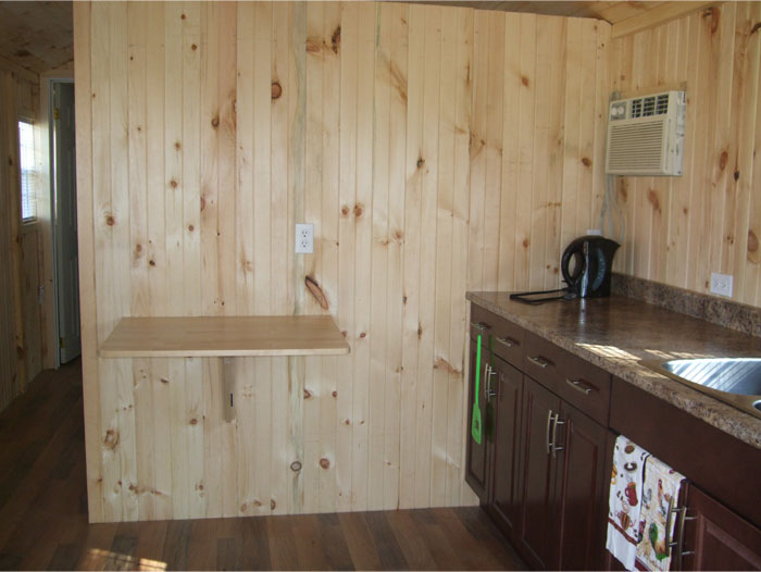 Cabin Rental Unit - Kitchen