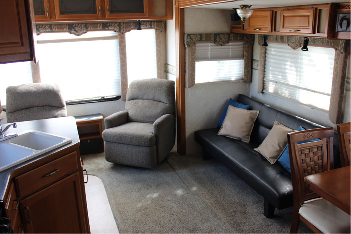 Trailer Rental Unit - Seating Area