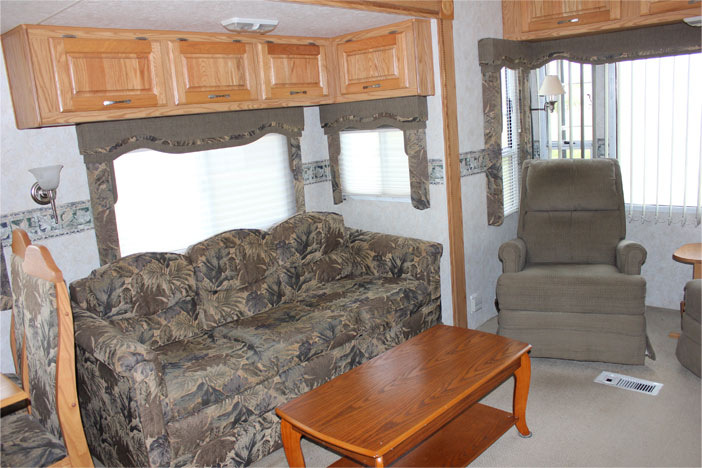 Trailer Rental Unit - Pull Out Sofa